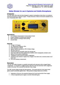 1681 Electrical Bond Resistance and Continuity Tester - Application Note