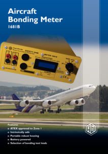 1681B Aircraft Bonding Tester - Datasheet