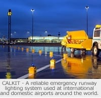 CALKIT being used as an emergency runway