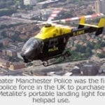 Manchester Police's helicopter in the air were the first to use AGI's portable lighting