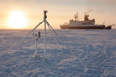 Showing the MOSAiC expedition in the Arctic